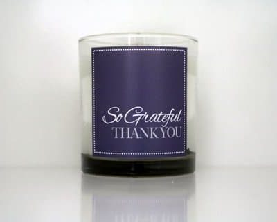 Cahn Candles - so grateful thank you